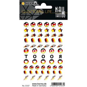 Herma 15167 CLASSIC NAIL TATTOO Sticker - Deutschlandfahne