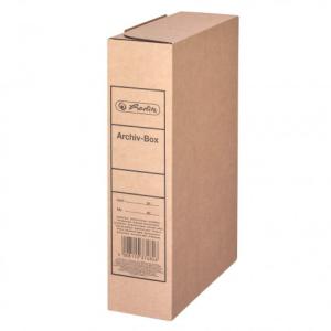 herlitz Archivbox - DIN A4 - 8 cm - braun