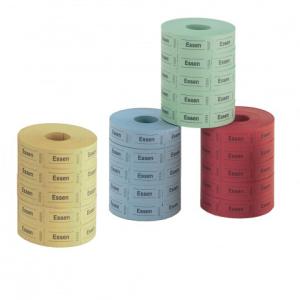 herlitz Essenmarke - 5 x 1000 Abrisse - farbig sortiert