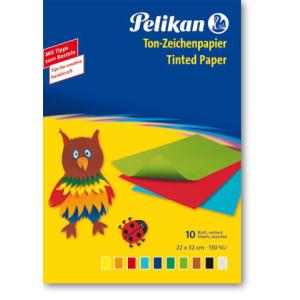 Pelikan Tonzeichenpapier - 10 Farben - 10 Blatt