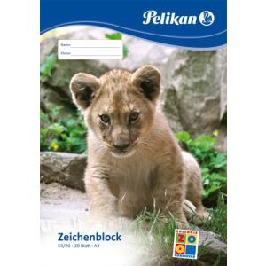 Pelikan Zeichenblock - Tiermotiv - DIN A3 - 20 Blatt