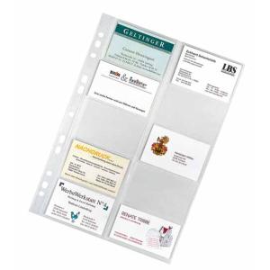 VELOFLEX Visitenkartenhüllen - DIN A4 - PP -...