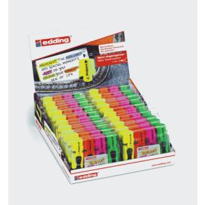 edding 7 Mini-Textmarker - Keilspitze - 1-3 mm - 4er Set