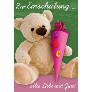 Komma3 Glückwunschkarte Zur Einschulung alles Liebe...