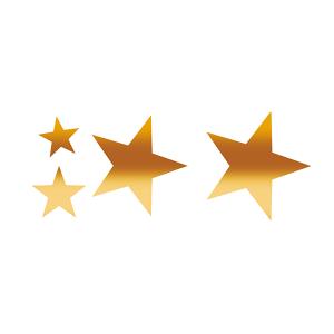 Herma 15132 Weihnachtssticker - Sterne - gold - auf Rolle...