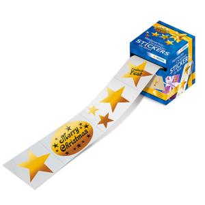 Herma 15133 Weihnachtssticker - Sterne - gold - auf Rolle...