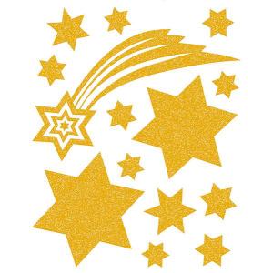 Herma 15109 Fensterbilder -Sterne - gold - 14 Sticker