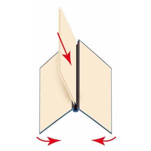 VELOFLEX Klemmbinder VELOCOLOR - DIN A4 - Karton - blau