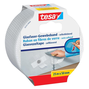 tesa Glasfaser-Gewebeband - 25 m x 50 mm - weiß