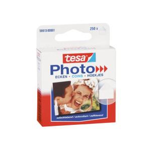 tesa Photo Ecken - 250 Stück - weiß/transparent