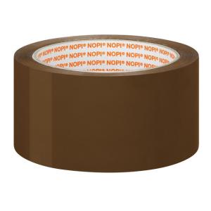 NOPI Verpackungsklebeband PP - 66 m x 50 mm - braun