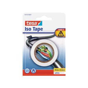 tesa Isolierband - 10 m x 15 mm - weiß