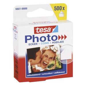 tesa Photo Ecken - 500 Stück - weiß/transparent