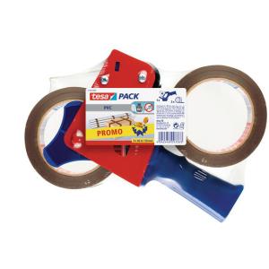 tesa tesapack Economy Handabroller + 2 Rollen Packband -...
