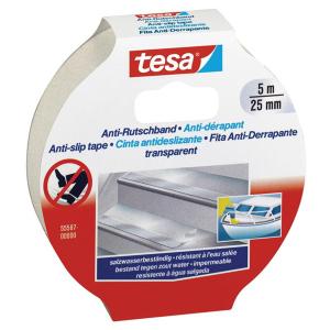 tesa Anti Rutschband - Transparent - 5 m x 25 mm