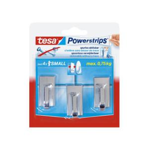 tesa Powerstrips Haken Classic - chrom - 1 Kg