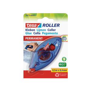 tesa Roller Kleben - Permanent - Einweg - 8,5 m x  8,4 mm...