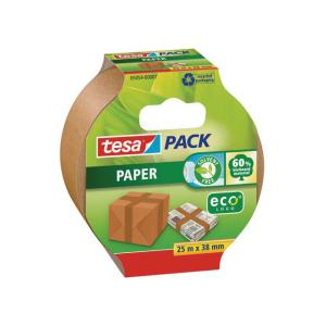 tesa Pack Packbandband Paper ecoLogo - 25 m x 38 mm - braun