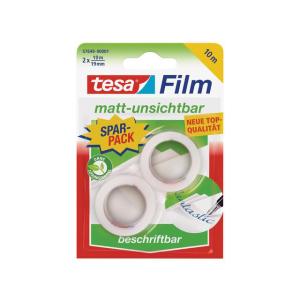 tesa tesafilm Invisible 10 m x 9 mm - matt-unsichtbar - 2...
