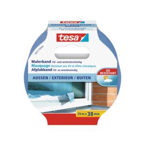 tesa Malerband für Außen - 25 m x 38 mm - blau