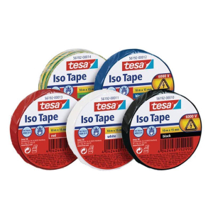 tesa Isolierband - 10 m x 15 mm - rot