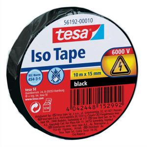 tesa Isolierband - 10 m x 15 mm - schwarz