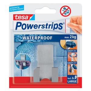 tesa Powerstrips Waterproof Rasierhalter Zoom - Metall