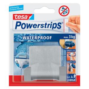 tesa Powerstrips Waterproof Duohaken Zoom - Metall