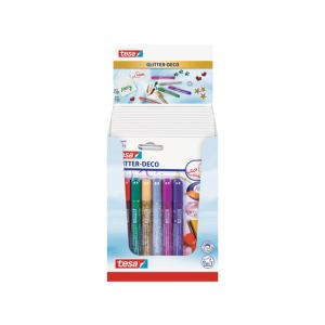 tesa Farbstift Glitter-Deco - 6 x Stifte - bunt