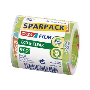 tesa tesafilm Eco & Clear - 10 m x 15 mm - 3 Rollen