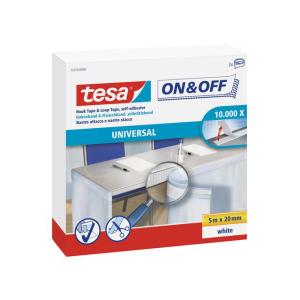 tesa On&Off Haken-und Klettband - 500 cm x 20 mm -...