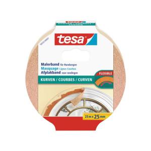 tesa Malerband für Rundungen - 25 m x 25 mm - beige