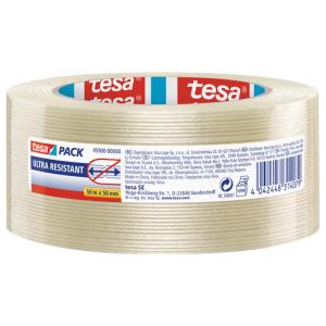 tesa tesapack Filament-Klebeband 50 m x 50 mm - transparent