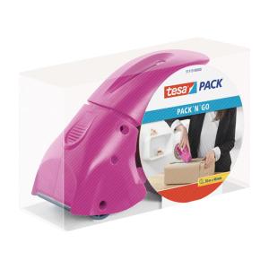tesa tesapack Pack´n´Go Handabroller pink...