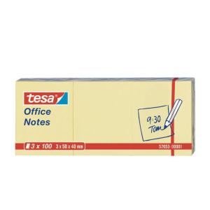 tesa Notes Office - 50 mm x 40 mm - gelb - 3x 100 Blatt