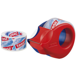 Handabroller Mini 10m x 19mm rot/blau