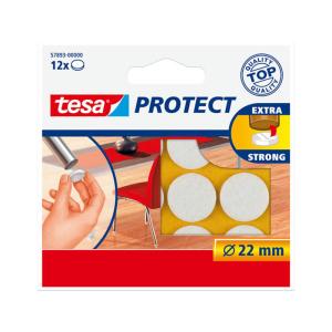 tesa Filzgleiter - 22 mm rund - weiß