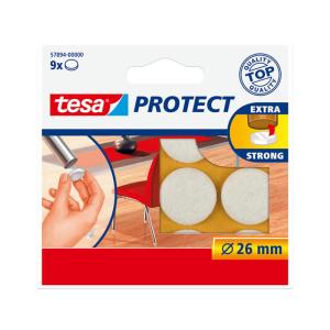 tesa Filzgleiter - 26 mm rund - weiß