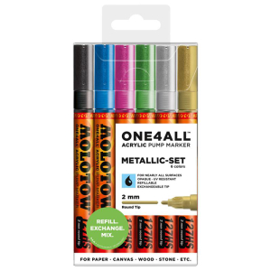 MOLOTOW ONE4ALL 127HS Metallic-Set 6er Etui