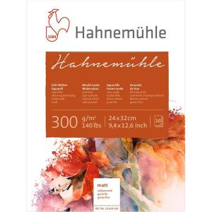 Hahnemühle Aquarellblock - 300 g/m² - matt - 24...