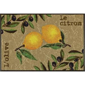 wash+dry Schmutzfangmatte Le Citron - 60 x 180 cm