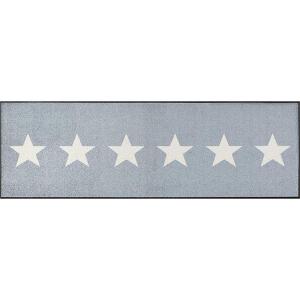 wash+dry Schmutzfangmatte Stars grey - 60 x 180 cm