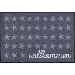 wash+dry Schmutzfangmatte Willkommen - Sterne - 50 x 75 cm