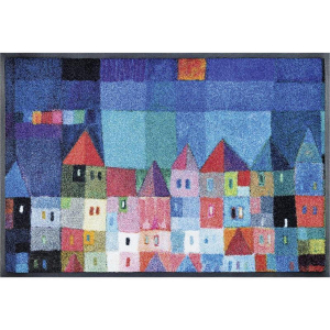 wash & dry Schmutzfangmatte Colourful Houses 75x120 cm
