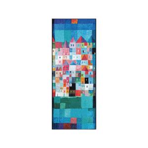 wash+dry Schmutzfangmatte Colourful Houses - 75 x 190 cm