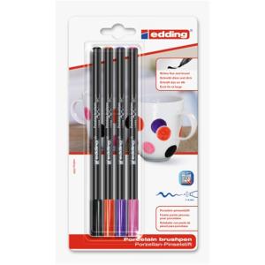 edding 4200 Porzellanpinselstift - 1-4 mm - 4er Set -...