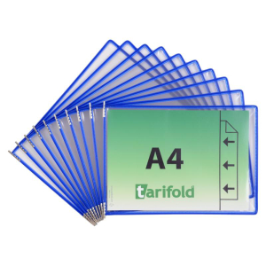 Tarifold Sichttafel - DIN A4 Quer - blau - 10 Stück