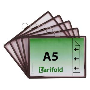 Tarifold Hängetafel - DIN A5 quer - schwarz - 5...