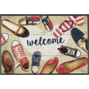 wash+dry Schmutzfangmatte Shoes welcome - 50 x 75 cm