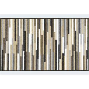 wash+dry Schmutzfangmatte Mikado Stripes nature - 75 x 120
